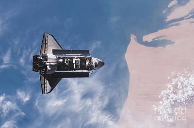 Photograph - Space Shuttle Endeavour by Stocktrek Images