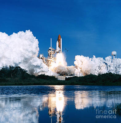 Space Shuttle Launch Art Print