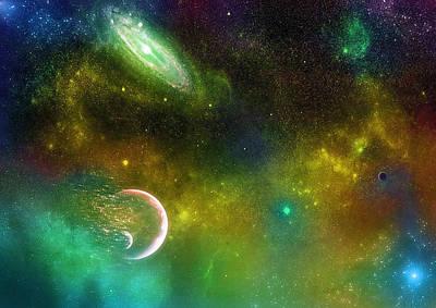 Supernova Digital Art - Space001 by Svetlana Sewell