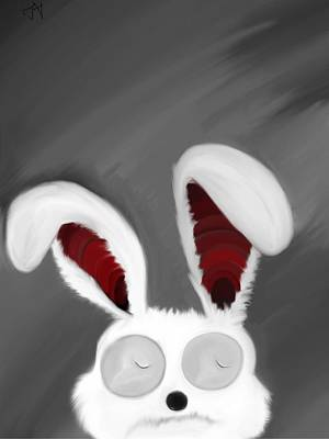 Painting - Spaced Bunny by Andre Carrion