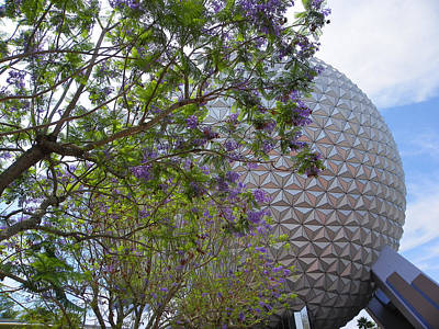 Photograph - Spaceship Earth  Epcot Center by Judy Wanamaker