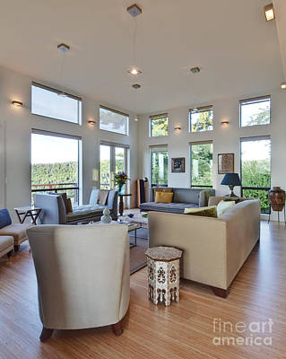 Upscale Photograph - Spacious Upscale Living Room by Rob Tilley