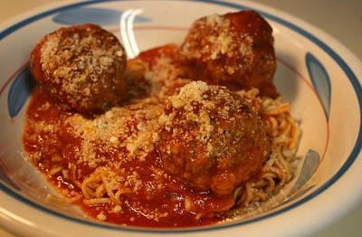 Spaghetti And Meatballs Art Print by Anne Babineau