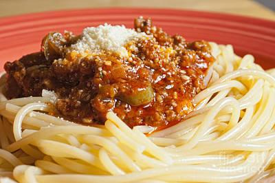 Spaghetti Bolognese Dish Art Print by Andre Babiak