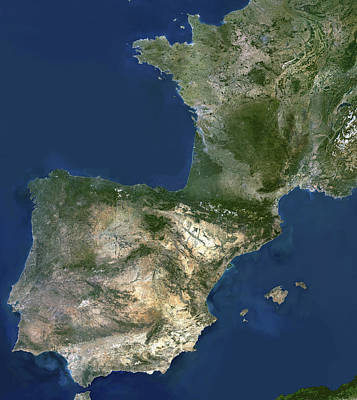 Menorca Photograph - Spain And France by Planetobserver