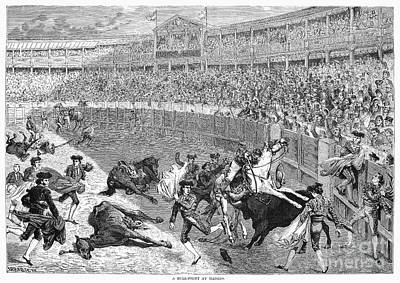 1874 Photograph - Spain: Bullfight, 1874 by Granger