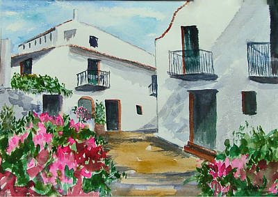 Spanish Balconies Art Print