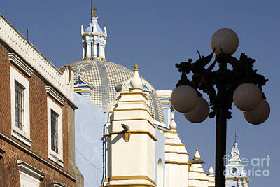 Photograph - Spanish Colonial Buildings Puebla Mexico by John  Mitchell