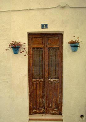 Spanish Doorstep Art Print by Perry Van Munster
