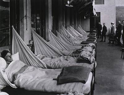 Spanish Flu Epidemic 1918-19. An Art Print by Everett