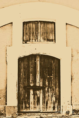 Spanish Fort Door Castillo San Felipe Del Morro San Juan Puerto Rico Prints Rustic Art Print by Shawn O'Brien