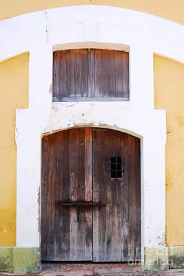 Photograph - Spanish Fort Door Castillo San Felipe Del Morro San Juan Puerto Rico Prints by Shawn O'Brien