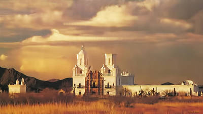 Digital Art - Spanish Mission by Walter Colvin