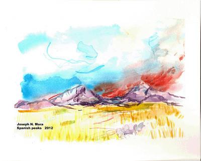 Spanish Peaks Study Art Print