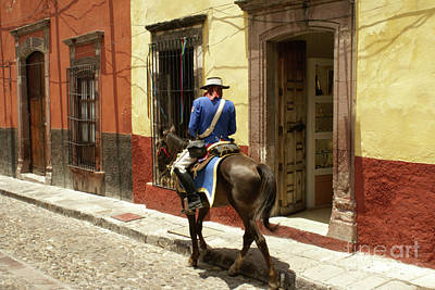 Photograph - Spanish Policeman In San Miguel De Allende Mexico by John  Mitchell