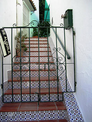 Photograph - Spanish Steps Tile Work In Mijas Spain by John Shiron