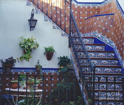 Photograph - Spanish Tile Stairs by Barbara Plattenburg