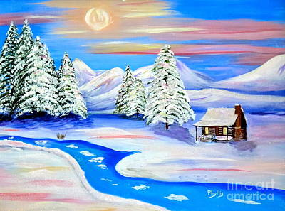 Painting - Sparkling Winter by Phyllis Kaltenbach