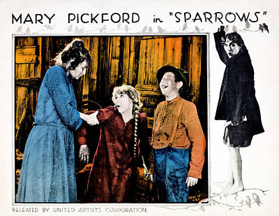 Sparrows, Mary Pickford Center Art Print