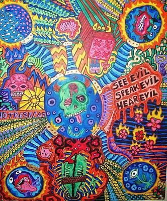 Speak No Evil Art Print by Ragdoll Washburn