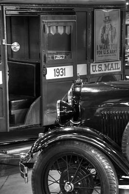 Photograph - Special Delivery Trucks Black And White by Ken Smith