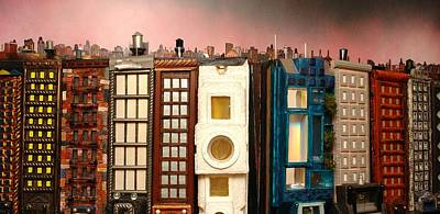 Painting - Special Perspective-big Blocks by Robert Handler