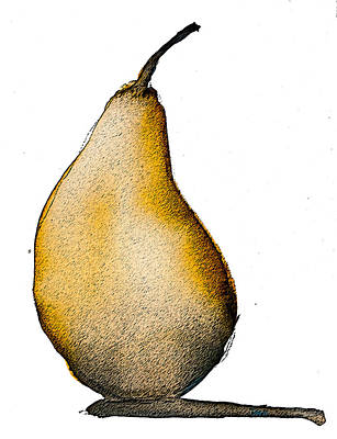 Digital Art - Speckled Pear by Jani Freimann