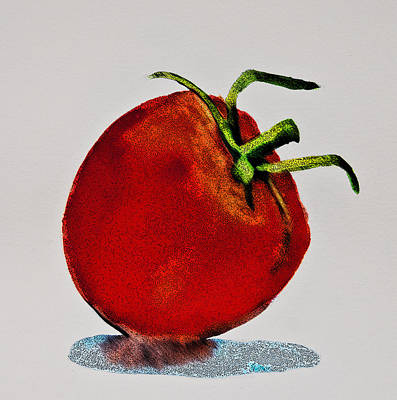 Digital Art - Speckled Tomato by Jani Freimann