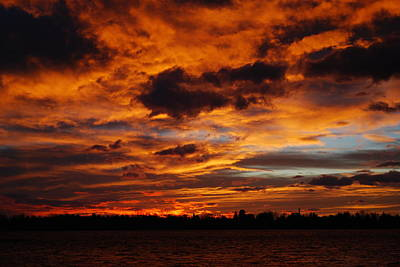 Red Skys Photograph - Spectacular Sunrise  by Billie Colson