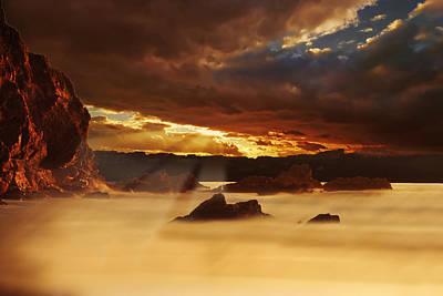 Spectacular Sunset On The Coast Art Print by Jaroslaw Grudzinski