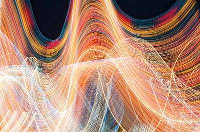 Barker Digital Art - Spectrum Thrill-ride by Jim Moore