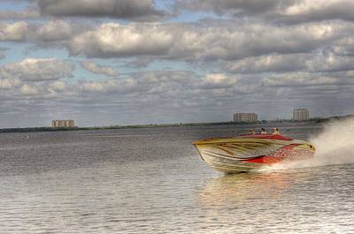 Rowboat Digital Art - Speed by Barry R Jones Jr