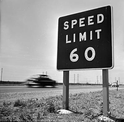 Speed Limit Print by Douglas Grundy