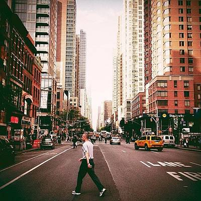 Landscape Photograph - Speed Of Life - New York City Street by Vivienne Gucwa