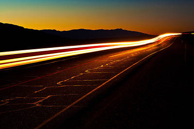 State Route 190 Photograph - Speed Of Light by James Marvin Phelps
