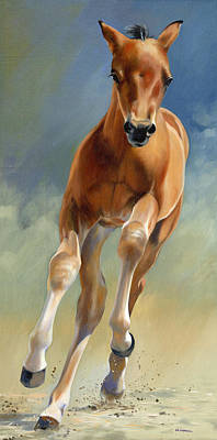 Morgan Horse Painting - Speed Test by Alecia Underhill