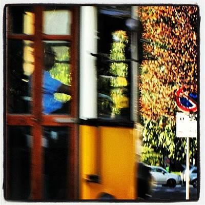 Icon Wall Art - Photograph - Speed!!! #warp #lightspeed #run #tram by Tram Milano