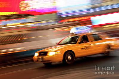 Speeding Cab Art Print by Brian Jannsen