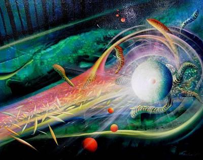 Macrocosm Painting - Sphere Metaphysics by Drazen Pavlovic