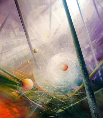 Sphere New Lights Art Print by Drazen Pavlovic