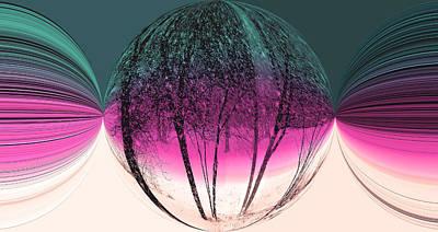 Spherical Snowstorm Art Print