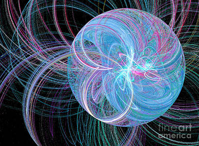 Art Print featuring the digital art Spherical Symphony by Kim Sy Ok