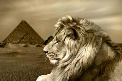 Cat Digital Art - Sphinx by Julie L Hoddinott