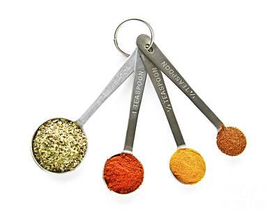 Spices In Measuring Spoons Art Print by Elena Elisseeva