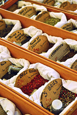 Spices On The Market Art Print by Elena Elisseeva