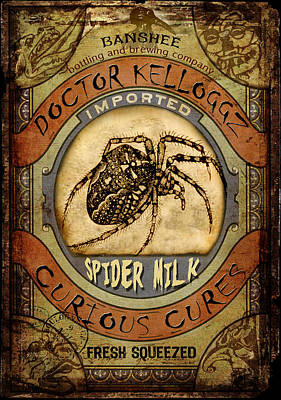 Digital Art - Spider Milk by Nada Meeks