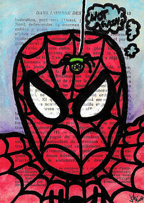 Cartoon Spider Painting - Spider Mr Uh Oh by Jera Sky