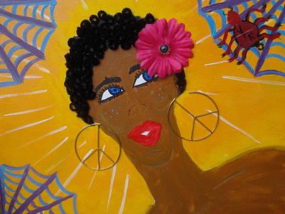 Painting - Spider Sense by Violette L Meier