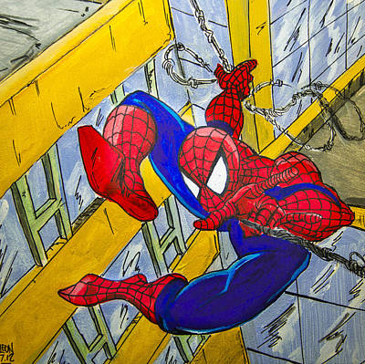 Spidey  Art Print by Chris  Leon