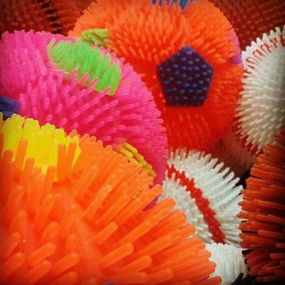 Color Contrast Wall Art - Photograph - Spiked Balls by Camera Hacker
